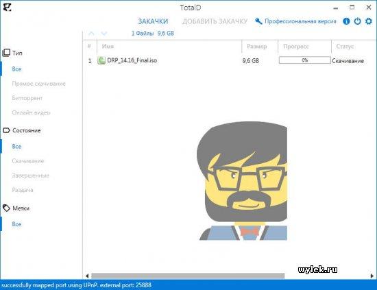 TotalD 1.3.2 - программа для скачивания файлов и видео